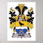 Rabe Family Crest Poster