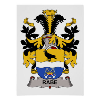 Rabe Family Crest Poster