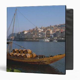 Rabelo Boats, Porto, Portugal 3 Ring Binder