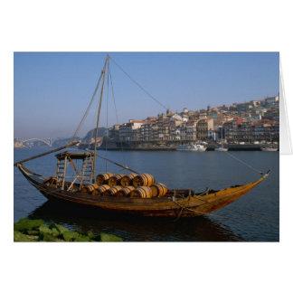 Rabelo Boats, Porto, Portugal Card