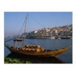 Rabelo Boats, Porto, Portugal Postcard