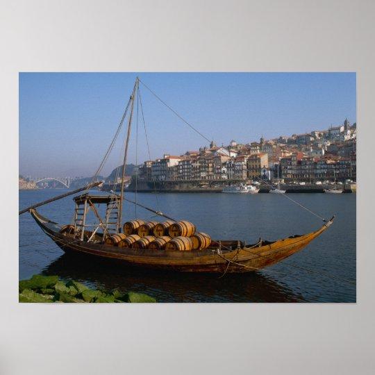 Rabelo Boats, Porto, Portugal Poster