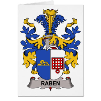 Raben Family Crest Greeting Card