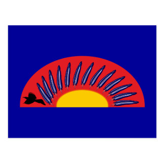 Raben feathers circle raven more feather circle postcard
