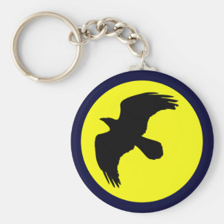 Raben moon raven moon basic round button keychain
