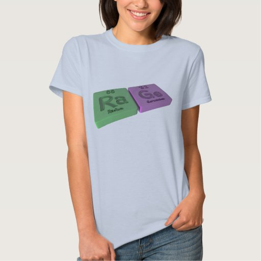 Rabia como el radio del Ra y germanio de GE Tee Shirt