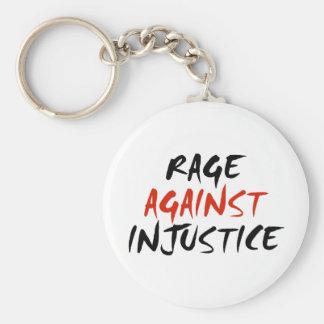 Rabia contra injusticia llavero redondo tipo pin