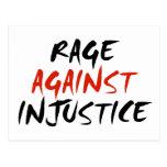 Rabia contra injusticia tarjeta postal