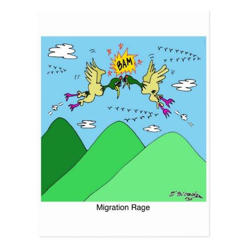 Rabia de la migración postal