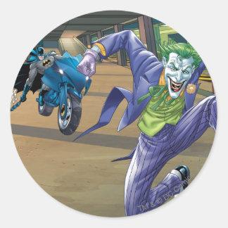 Rabia del granuja de Batman - 3 Pegatina Redonda