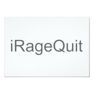 rabia del iRageQuit que abandona videojugador Invitación 8,9 X 12,7 Cm