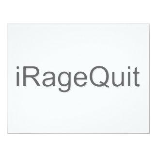 """rabia del iRageQuit que abandona videojugador Invitación 4.25"""" X 5.5"""""""