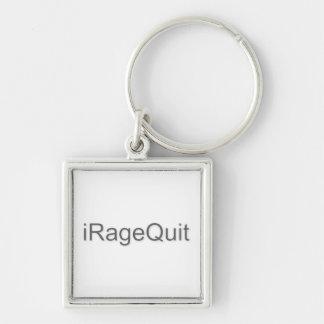 rabia del iRageQuit que abandona videojugador Llavero Cuadrado Plateado