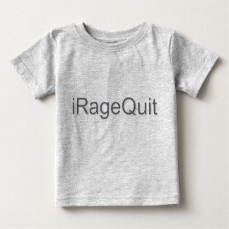 rabia del iRageQuit que abandona videojugador Playera Para Bebé