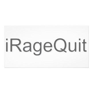 rabia del iRageQuit que abandona videojugador Tarjetas Con Fotos Personalizadas