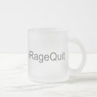 rabia del iRageQuit que abandona videojugador Taza Cristal Mate