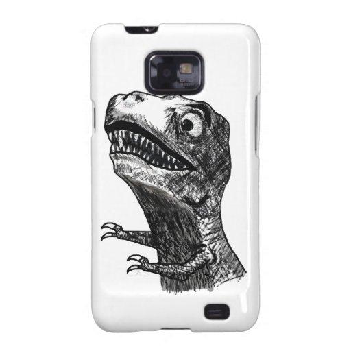 Rabia Meme de T-Rex - caja de la galaxia S de Sams Samsung Galaxy S2 Carcasa