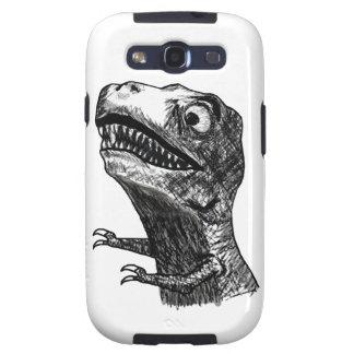 Rabia Meme de T-Rex - caja de la galaxia S de Sams Samsung Galaxy S3 Cárcasa