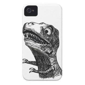 Rabia Meme de T-Rex - caja intrépida de Blackberry Case-Mate iPhone 4 Cobertura