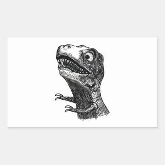 Rabia Meme - pegatinas de T-Rex del rectángulo Rectangular Altavoces