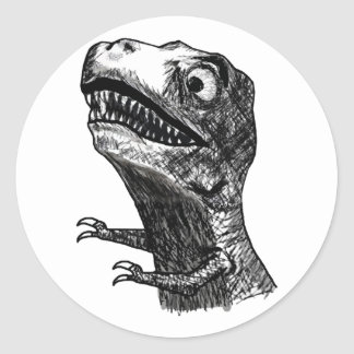 Rabia Meme - pegatinas redondos de T-Rex Pegatinas Redondas