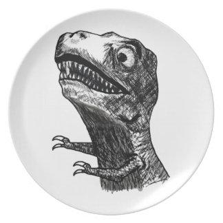 Rabia Meme - placa de T-Rex Plato