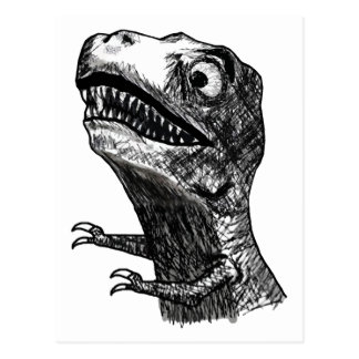 Rabia Meme - postal de T-Rex