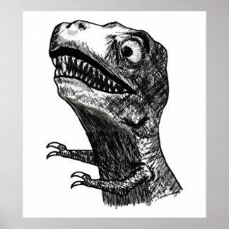 Rabia Meme - poster de T-Rex