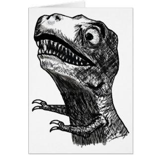 Rabia Meme - tarjeta de T-Rex de felicitación