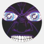 Rabia negra pegatina redonda