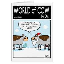 Rabid Christmas Cow Card