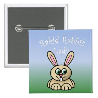 Rabid Rabbit Button 2