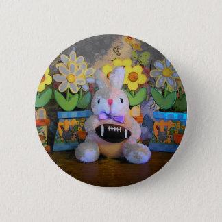 rabid rabbit football fan button