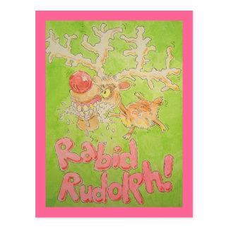 Rabid Rudolph Postcard