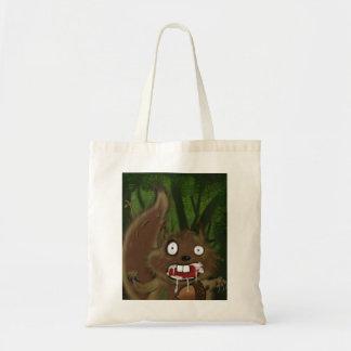 Rabid Squirrel Tote Bags