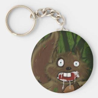 Rabid Squirrel Basic Round Button Keychain
