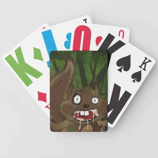 Rabid Squirrel Bicycle Playing Cards