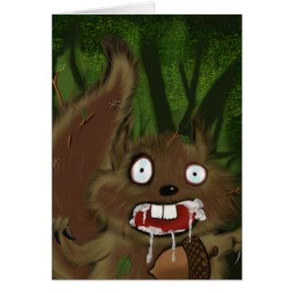 Rabid Squirrel Card