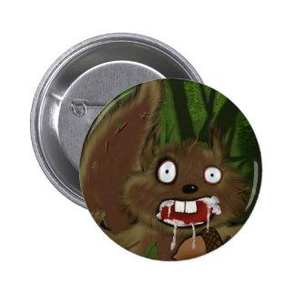 Rabid Squirrel Pinback Button