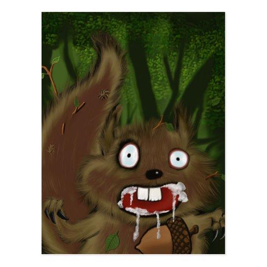 Rabid Squirrel Postcard