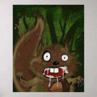 Rabid Squirrel Poster