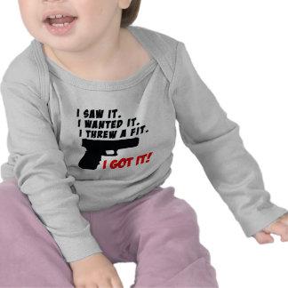 Rabieta del genio del arma camisetas