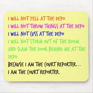 Rabieta del genio del reportero de corte mousepad