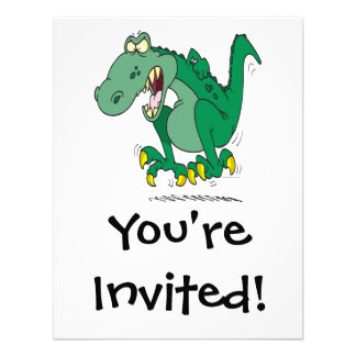 rabieta enojada de Dino del t-rex Invitacion Personal