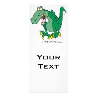 rabieta enojada de Dino del t-rex Tarjetas Publicitarias Personalizadas