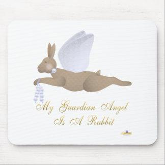 Rabino azul del ángel de guarda de los rosas de Br Tapetes De Ratón