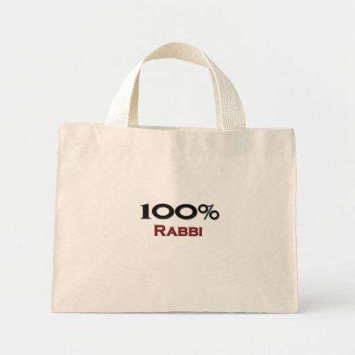 Rabino del 100 por ciento bolsa tela pequeña