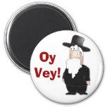 Rabino judío divertido - dibujo animado fresco imán redondo 5 cm