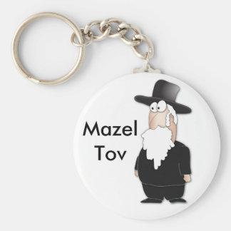 Rabino judío divertido - dibujo animado fresco llavero redondo tipo pin