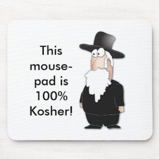 Rabino judío divertido - dibujo animado fresco tapete de ratones